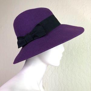 d961e564135 Bloomingdale s Accessories - Bloomingdales Aqua Italy Purple Wool Fedora  Hat OS